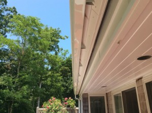 New seamless gutter on Cape Cod