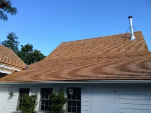 Red cedar roof in Harwich, Cape Cod