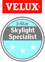 Badge for Velux 3 star skylight installer specialist