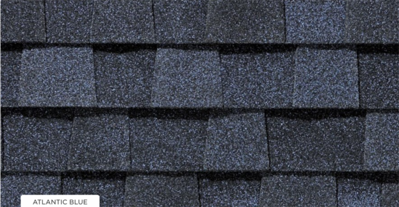 CertainTeed roof shingles, atlantic blue color