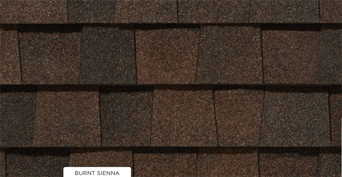 CertainTeed roof shingles, burnt sienna color
