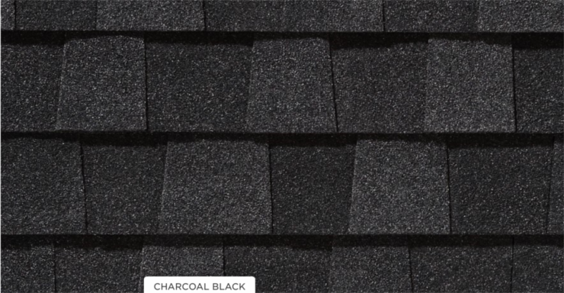 CertainTeed roof shingles, charcoal black color