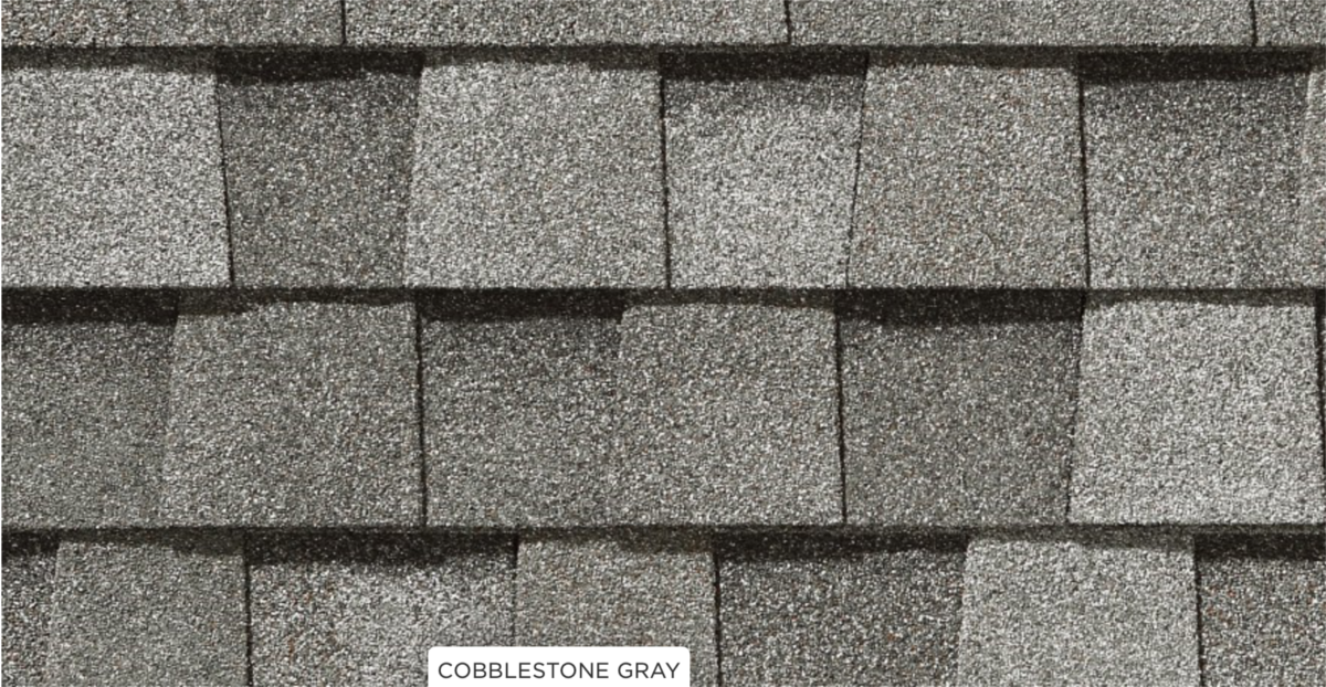 CertainTeed roof shingles, cobblestone gray color