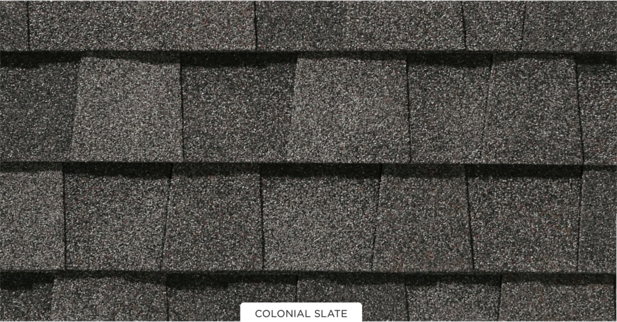 CertainTeed roof shingles, colonial slate color
