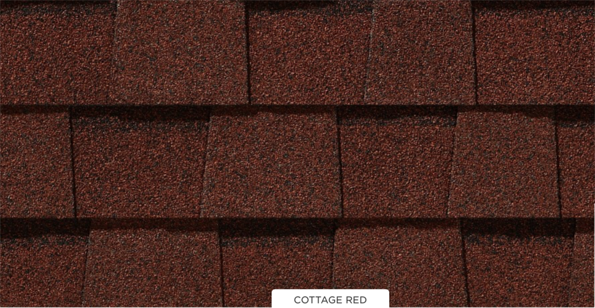 CertainTeed roof shingles, cottage red color