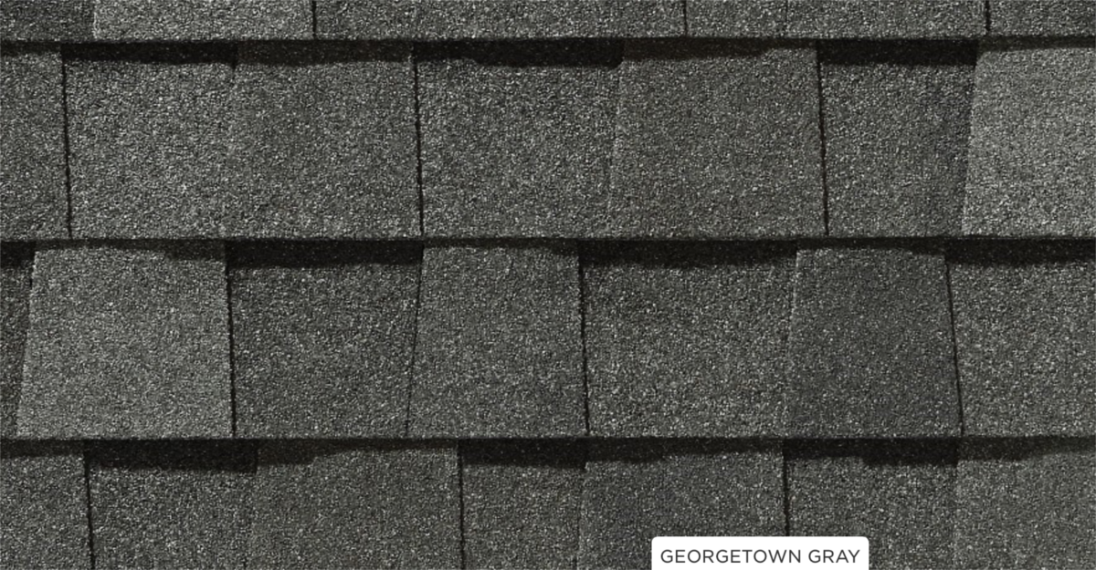 CertainTeed roof shingles, Georgetown gray color