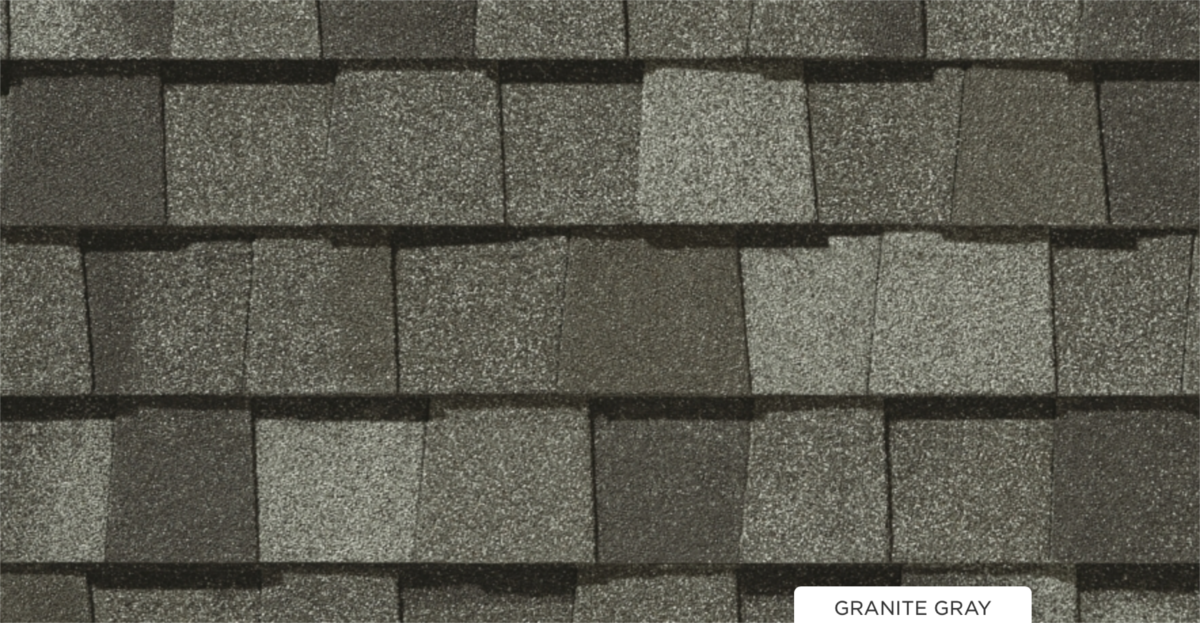 CertainTeed roof shingles, granite gray color