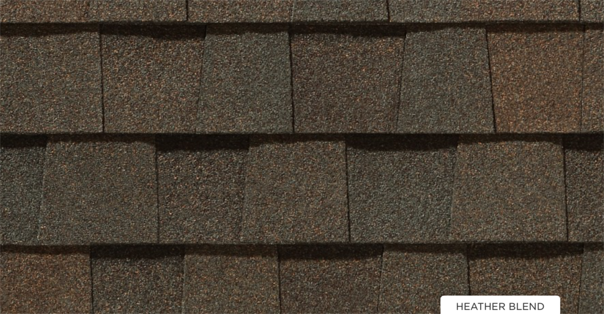 CertainTeed roof shingles, heather blend color