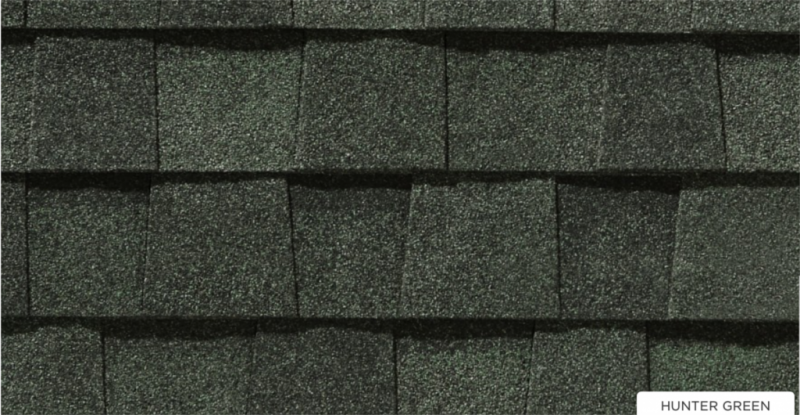 CertainTeed roof shingles, hunter green color