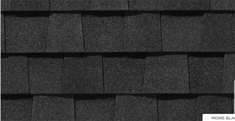 CertainTeed roof shingles, moire black color